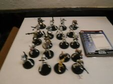 Star Wars miniatures 20 clones with cards,