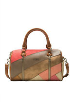 Desigual Women's Caprica Sidney Bag RRP ?74 Peach Gold & Tan Patches