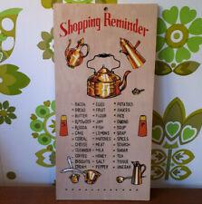 Vintage Wooden Shopping List Reminder Peg Board Kitchenalia Kitchen (27)