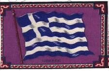 C1910 Greece Flag Felt Blanket Tobacco Cigar Premier, Vivid Colors B6
