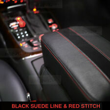 Sports Center Console Suede Black Line Armrest Cushion Accessory For BMW Car