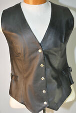 Wilsons Leather Expert Vintage Women's Black Leather Vest Size Large