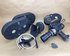 Arriflex IIA 35mm Film Movie Camera W/ Pan-Tachar 125mm F:2.3 & More - VINTAGE