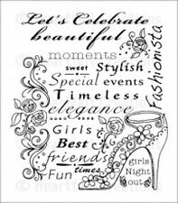Heartfelt Creations-Fashionista Cling Stamps HCPC-3706