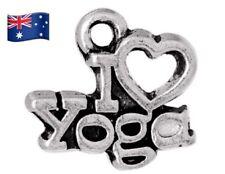 3X I Love Yoga Charm Pendant - for Necklaces, Bracelets or Key Chain