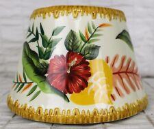 Yankee Candle Lg Shade Tropical Flowers Tiki Grass Roof Hibiscus Bird of Paradis