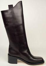 CHANEL 14A Dark Brown Leather CC Logo Dallas/Paris High Boots EU 37 US 6.5 $1875