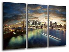 Cuadro Moderno Fotografico New York, Nueva York base madera, 87x62 cm ref. 26220