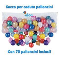 BALLOON DROP BAG SACCO per CADUTA con 70 PALLONCINI Accessori feste compleanno