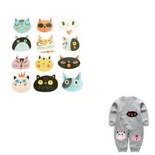 Cute Cats Iron On Patches Washable Heat Transfer Stickers Clothes Applique RAHN
