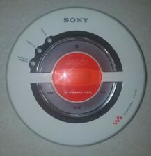 Sony Psyc Dej100 Cd Walkman Player White G Protection Tested , Bass boost