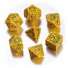 Q-workshop 7 Dice Set Yellow & Green Pathfinder RPG Serpent's Skull SPAT36