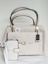 Coach Madison Madeline Saffiano Parchment Handbag Satchel Phone Wallet 27854 NWT
