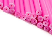 x50 150mm x 4.5mm stick lollipop in plastica per torte rosa