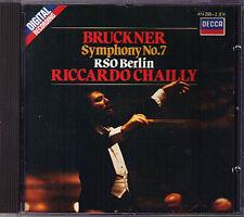 Riccardo CHAILLY: BRUCKNER Symphony No.7 RSO Berlin DECCA CD 1985