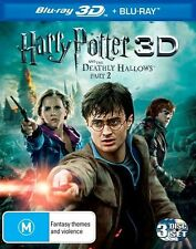 Harry Potter And The Deathly Hallows : Part 2 (Blu-ray, 2011, 3-Disc Set)