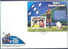 SOLOMON ISLANDS 2012 RUGBY IN THE ISLANDS SOUVENIR SHEET FDC