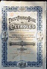 Lot Action 500 francs Trust Franco Belge des Pétroles - 1920 (8 actions)