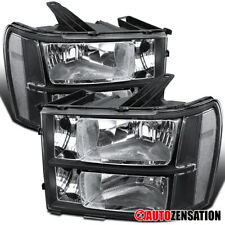 For 2007-2013 Gmc Sierra 1500 2500 3500Hd Black Headlights Head Lamps Pair (Fits: Gmc)
