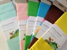 Craft Tissu Matériau-Uni - 100 CM X 75 CM-diverses couleurs * CLAIRANCE *
