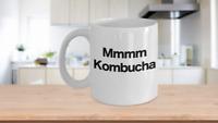Kombucha Mug White Coffee Cup Funny Gift for Hippy Granola Crunchy Health Food