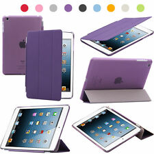 Purple Polyurethane Smart Sleep Wake Cover + PC Hard Plastic Shell For iPad Mini