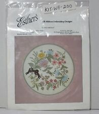 "New 1994 Esther's Floral ""Floral Heritage"" Silk Ribbon Embroidery Kit #WH 200"