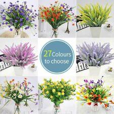 Flor Artificial Ramo Banquete de Boda Lavanda falso Jardín Hierba Multi-Color