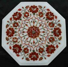 12 Inches Carnelian Stone End Table Top Marble Coffee Table Home Furniture
