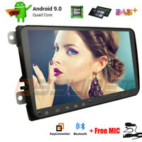 9 in 2DIN Android 8.1 Quad-core 16GB Car Stereo Radio GPS Wifi For VW Skoda Seat