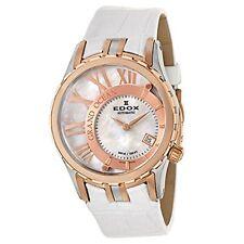 Edox Women's 37008 357R-NAIR Grand Ocean Swiss AUTOMATIC Date White Band Watch