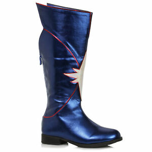 Ellie 151-KARMA Blue 1.5 inch Heel Women's Knee High Superhero Boot