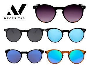 NECESITAS Sonnenbrille Damen Herren Rund Round Vintage Retro Designer Fashion
