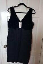 New LK Bennett 18 black Liz Dress Velvet PartyCocktail Gown Evening Formal