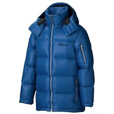 MARMOT STOCKHOLM 700 DOWN JACKET WINTER HOOD MENS LARGE BLUE SAPHIRE $275