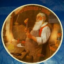 """Knowles Collector Plate-1984 Norman Rockwell """"Santa in His Workshop"""""""