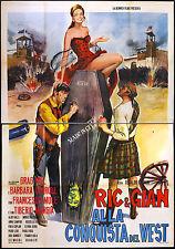 CINEMA-manifesto RIC & GIAN ALLA CONQUISTA DEL WEST hill, mulè, carroll,CIVIRANI