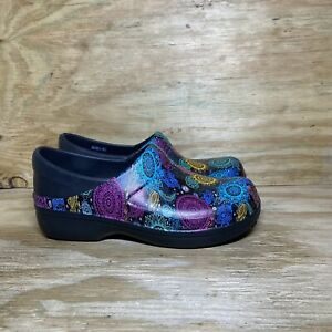 Crocs Neria Pro II Clogs Womens Size 10 Work SR Career Shoes 205385 Colorful