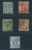 Danzig 1923, Mi 138-142 gest., gepr. Infla, MI 280,-€