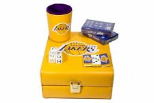 Los Angeles Lakers Deluxe Set 3 Games: Dominó, Dice Cup, 2 Poker Cards