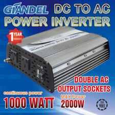 Large Shell Power Inverter1000W(2000W Max)12V- 240VAC With Car Plug