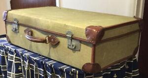 Vintage Canvas 50's National Service Suitcase