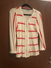Faust Couture Size EU40 White And Red Stripped Long Sleeve Top Viscose