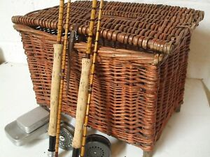 Vintage large top quality Cane fishing Basket / Box    **Pure Class**