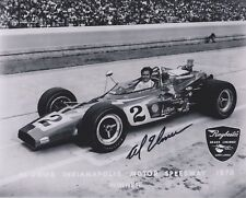 Indianapolis 500 Winner AL UNSER SR Signed Indy auto race 8x10 Photo