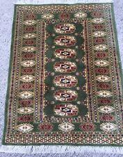 Tapis 89x66cm Laine Noué Fait Main rugs Alfombra Tappeto Teppich