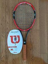 2015 Wilson Pro Staff 97 4 3/8 Tennis Racquet Racket, v10 Red / Black, 16x19