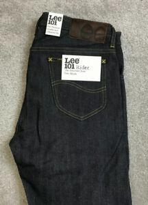 New Lee 101 Rider Regular Fit Jeans Denim Pants Blue Mens W33 L34 BNWT #721