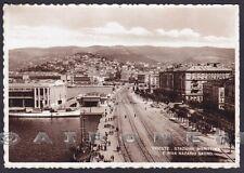 TRIESTE CITTÀ 155 STAZIONE MARITTIMA Cartolina viaggiata 1932