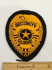 "SECURITY GUARD Embroidered Patch 4.25""x3.45"""